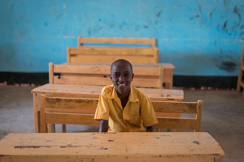 Mohammed Ali Abouka in school Somalia web