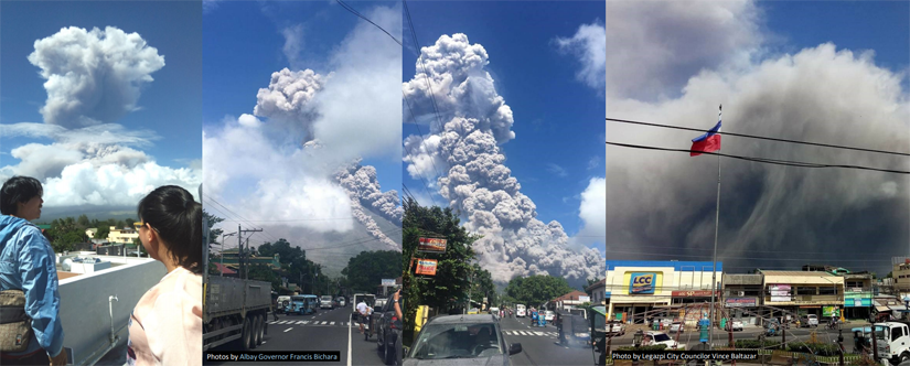 Eruption of Mayon Volcano