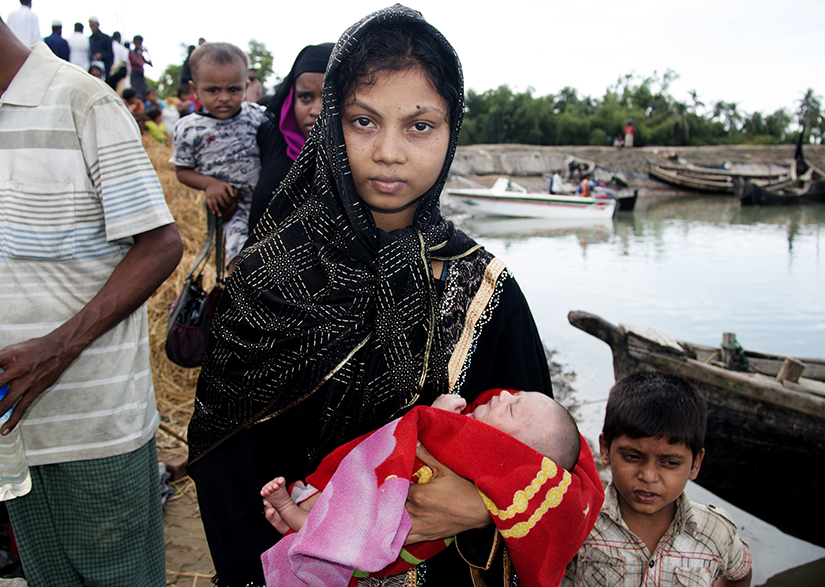 Rohingya woman and children web