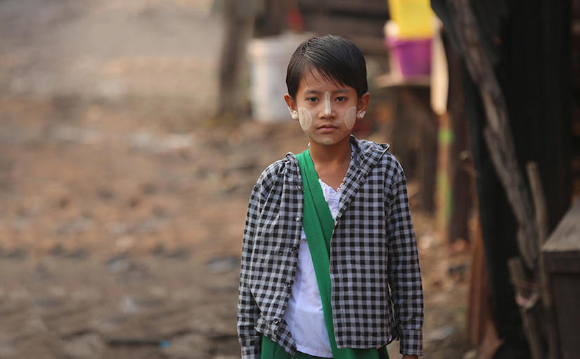 Choosing between school and food. The difficult choices for children in Myanmar.