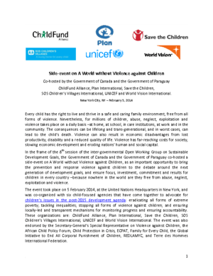 Event: A World without Violence against Children thumbnail