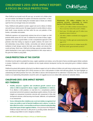 ChildFund International Impact Report on Child Protection