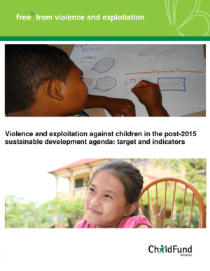 Violence and Exploitation Against Children in the Post-2015 Sustainable Development Agenda thumbnail