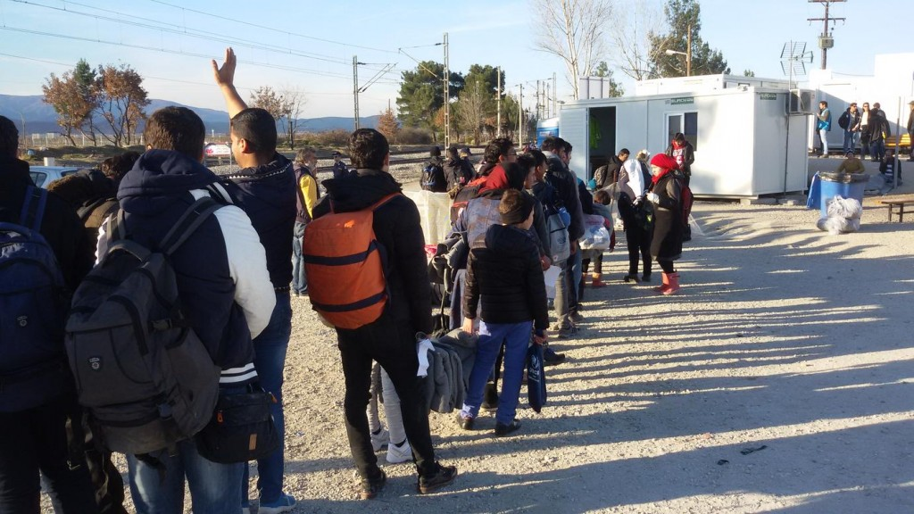 Photo: In Idomeni, only a few hundred migrants were permitted to cross the border at a time, and now there are further restrictions by Macedonian authorities