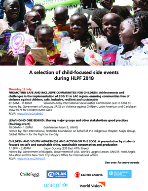 Event: Child-focused Events During HLPF 2018 thumbnail