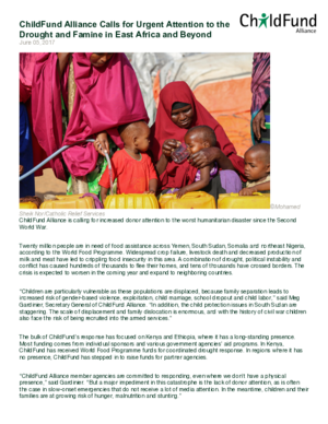 Statement: ChildFund Alliance Calls for Urgent Attention to the Drought and Famine in East Africa and Beyond thumbnail